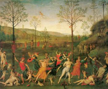 Pietro Perugino : The Combat of Love and Chastity